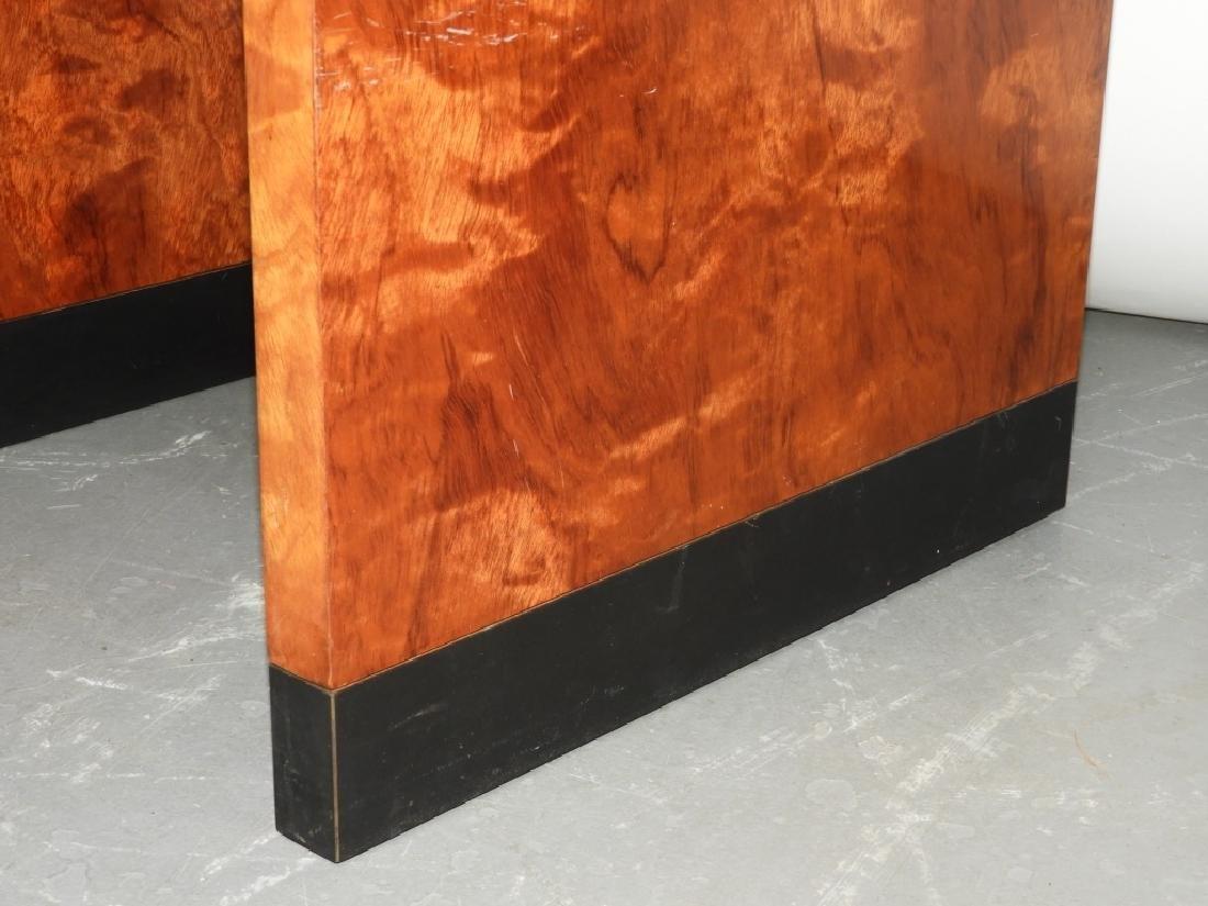 MCM Hollywood Regency Burl Wood Veneer End Table - 3