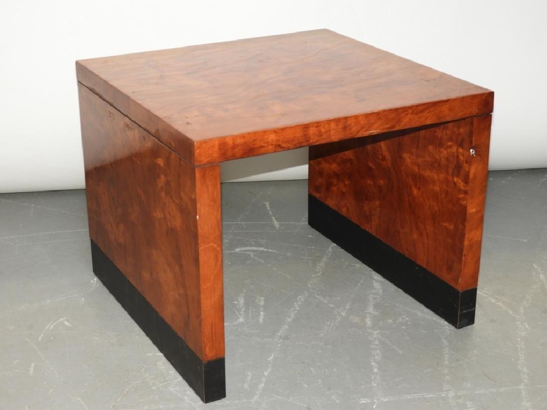 MCM Hollywood Regency Burl Wood Veneer End Table - 4