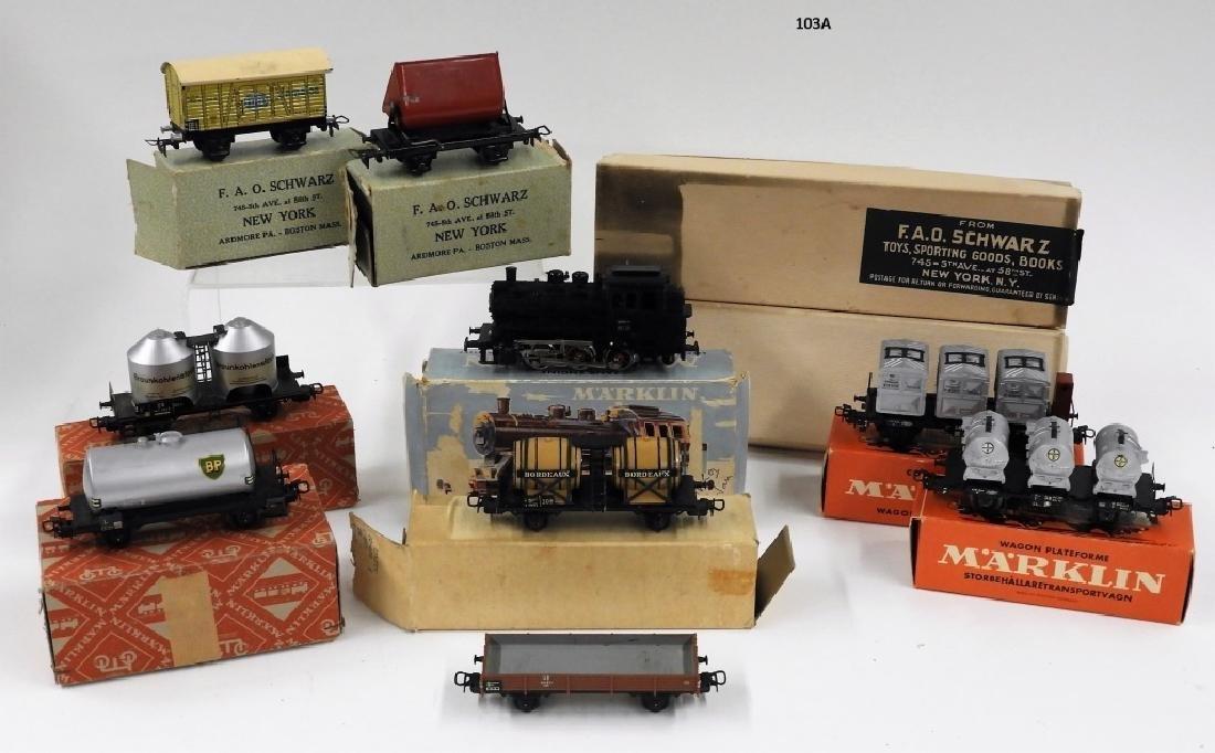 Vintage Marklin HO 9 Car Locomotive Train Set