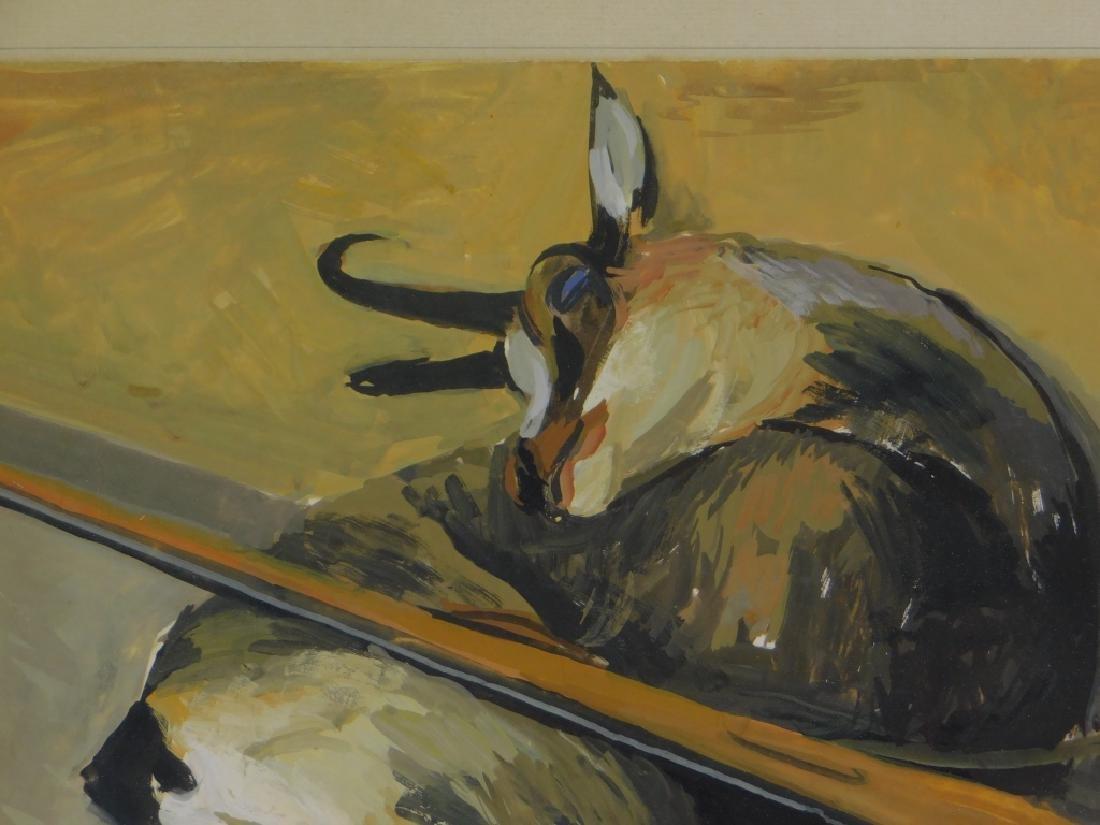 Albert Chavaz Alpine Ibex Rifle Game Painting - 3