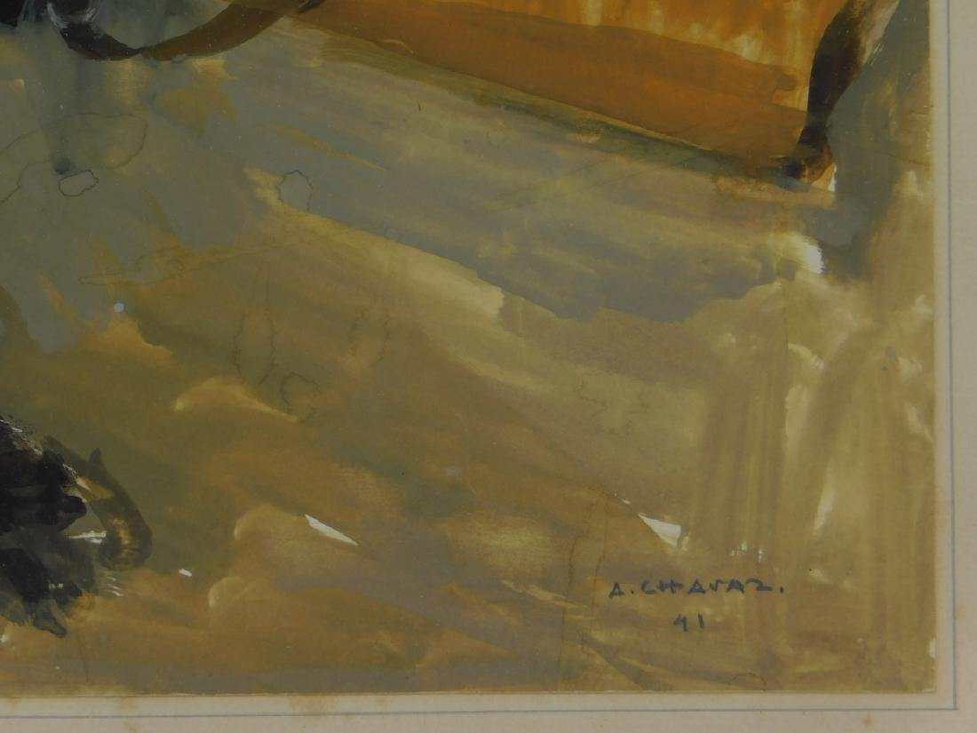Albert Chavaz Alpine Ibex Rifle Game Painting - 5