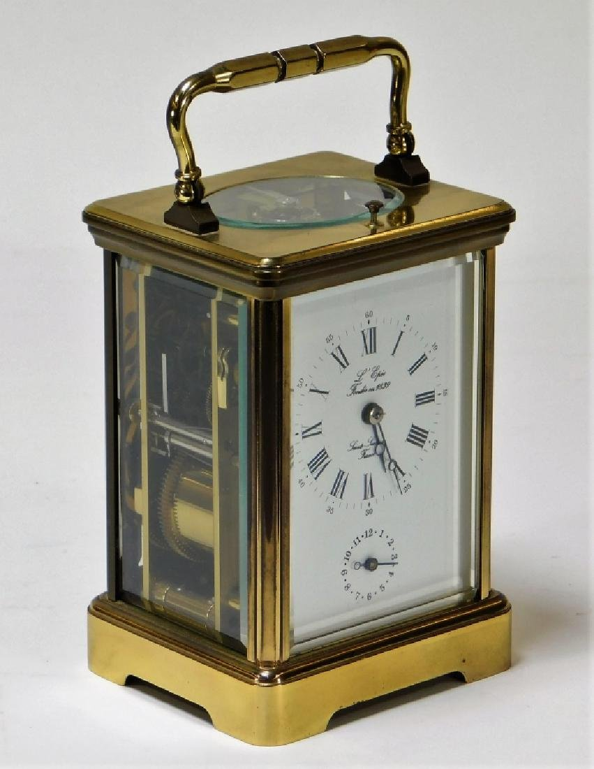 French Saint Suzanne L'Epee Brass Carriage Clock - 2