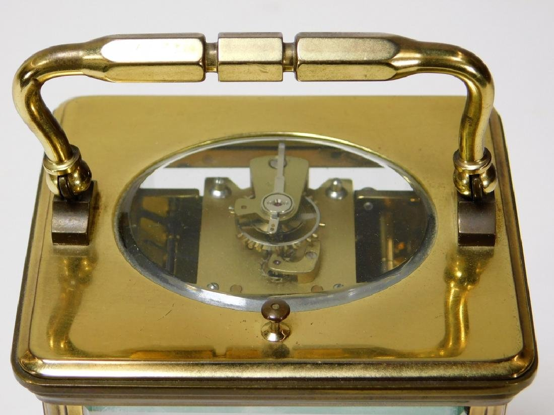 French Saint Suzanne L'Epee Brass Carriage Clock - 4