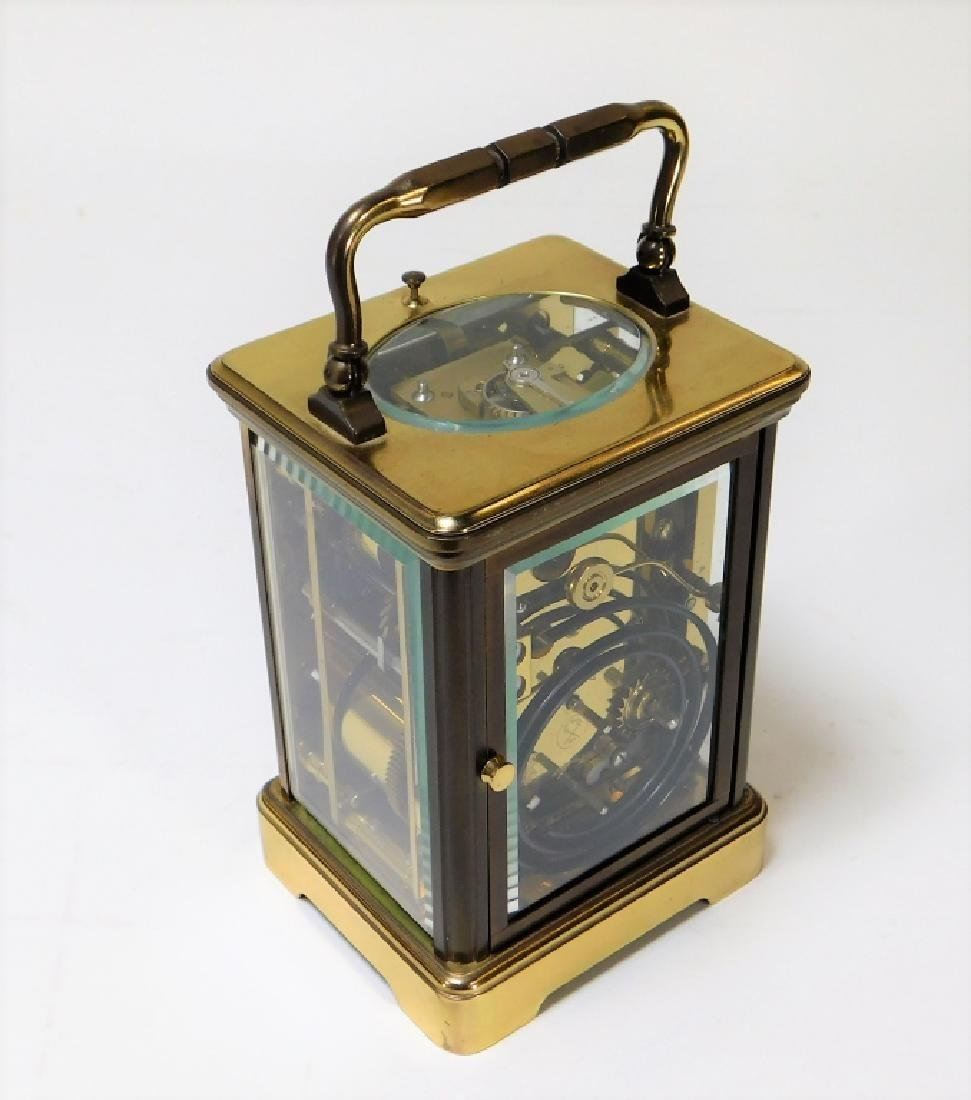 French Saint Suzanne L'Epee Brass Carriage Clock - 5