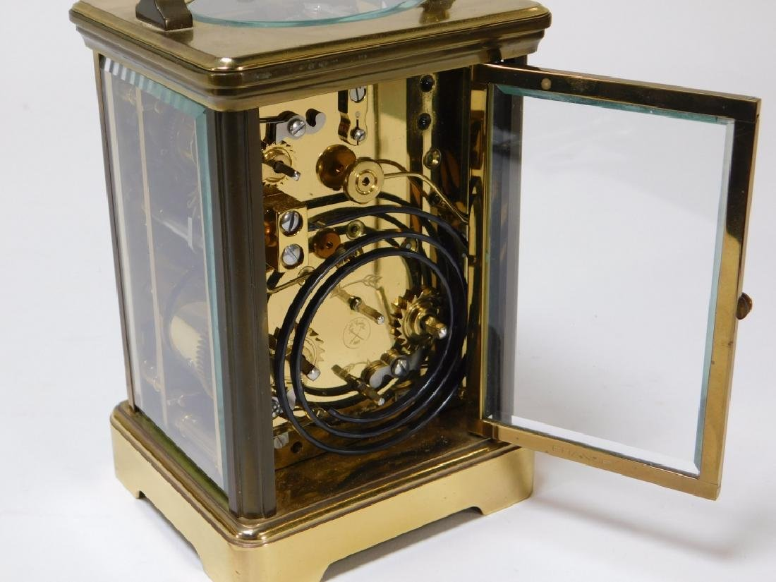 French Saint Suzanne L'Epee Brass Carriage Clock - 6