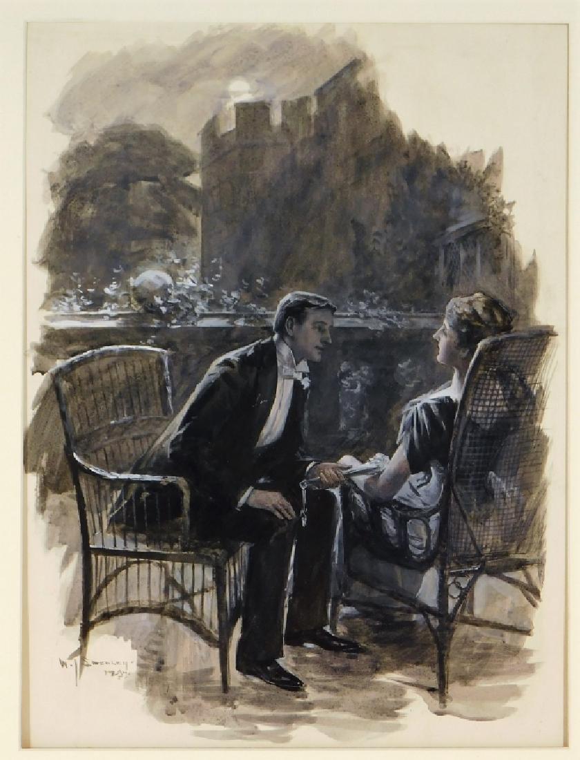 William Smedley Art Nouveau Romantic Illustration