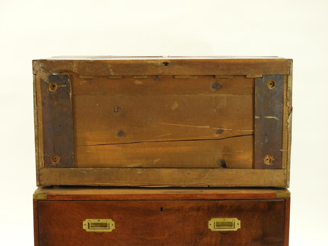 19C. Chinese Camphor Wood Campaign Chest - 10