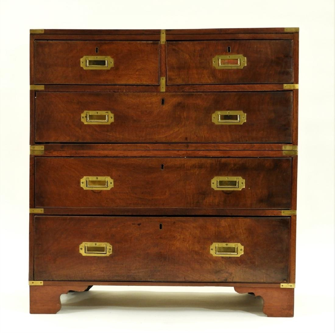 19C. Chinese Camphor Wood Campaign Chest - 2