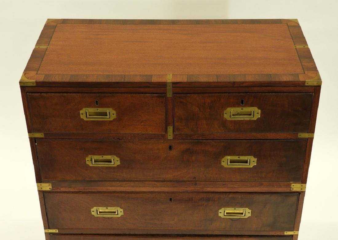 19C. Chinese Camphor Wood Campaign Chest - 3
