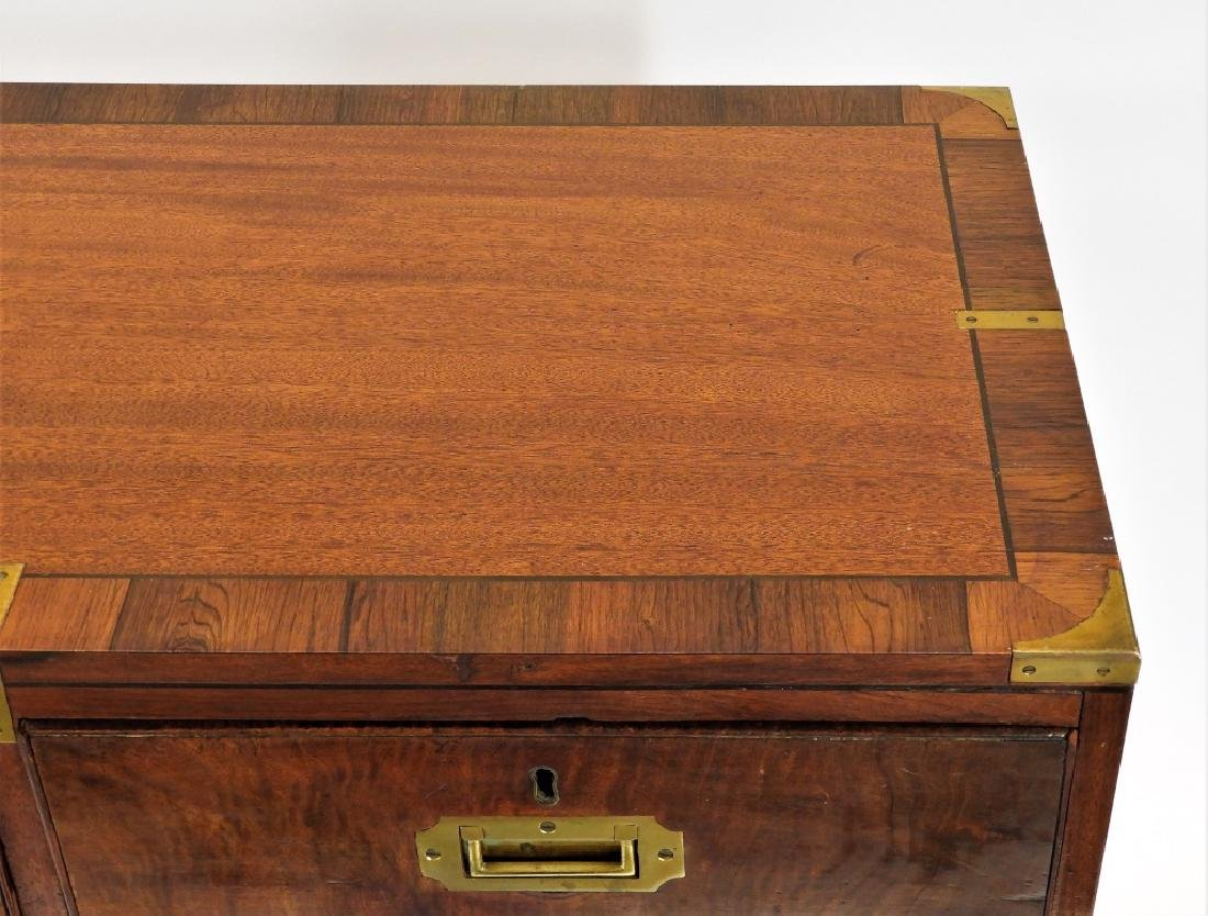19C. Chinese Camphor Wood Campaign Chest - 4