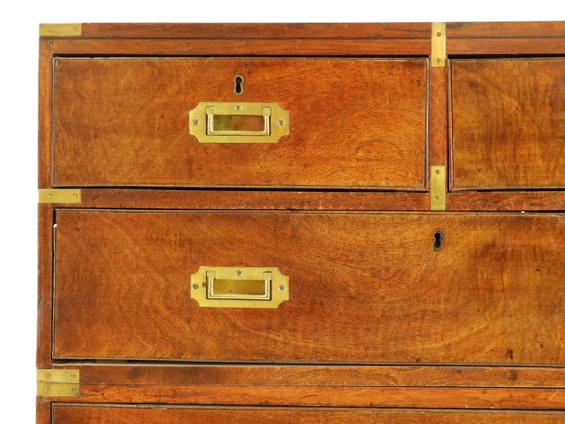 19C. Chinese Camphor Wood Campaign Chest - 5