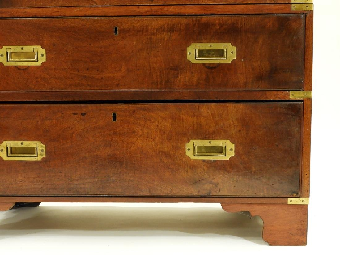 19C. Chinese Camphor Wood Campaign Chest - 6