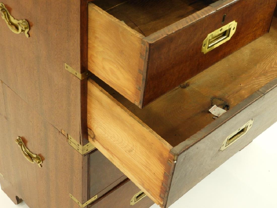 19C. Chinese Camphor Wood Campaign Chest - 7