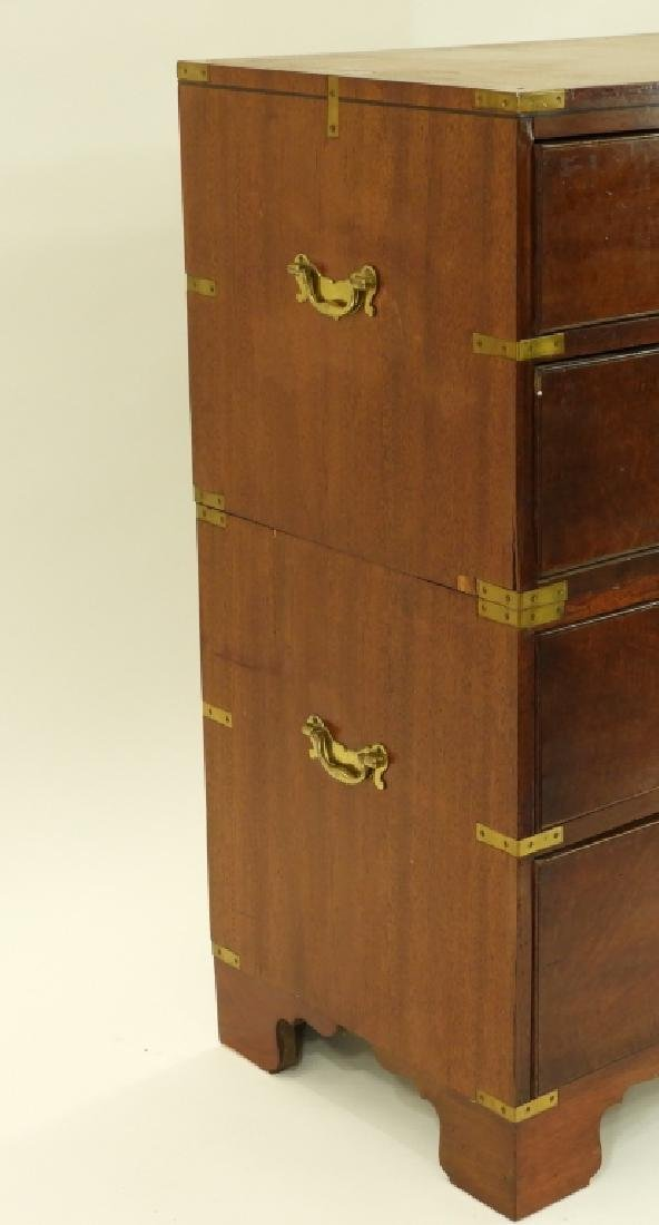 19C. Chinese Camphor Wood Campaign Chest - 9