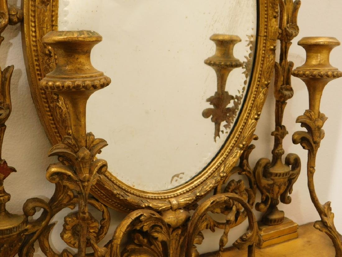 EXCEPTIONAL Chippendale Gilt Carved Wood Mirror - 10