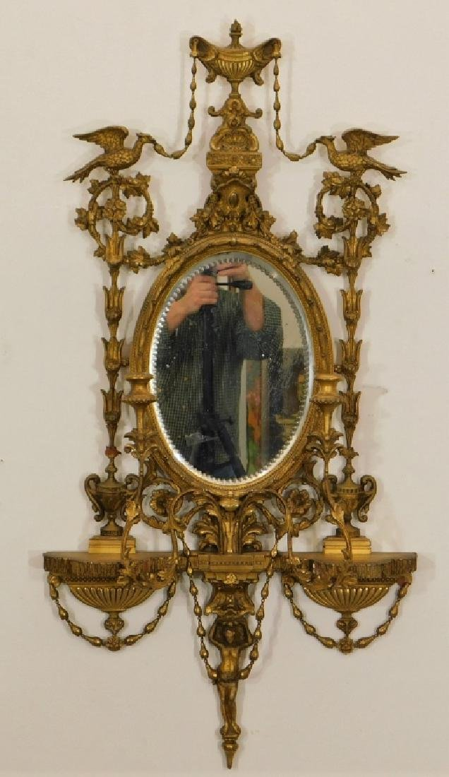 EXCEPTIONAL Chippendale Gilt Carved Wood Mirror