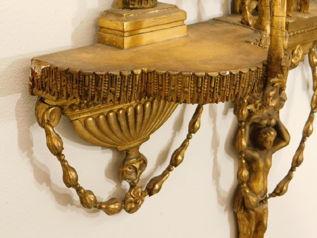 EXCEPTIONAL Chippendale Gilt Carved Wood Mirror - 6