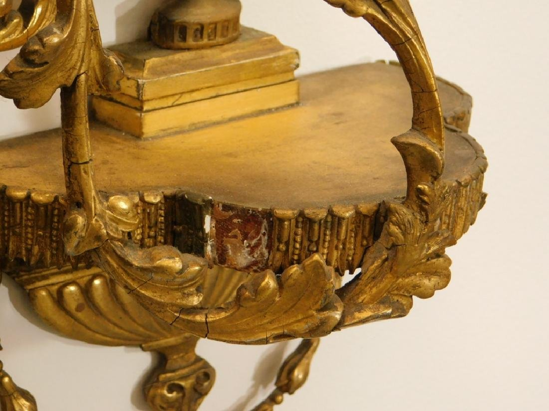 EXCEPTIONAL Chippendale Gilt Carved Wood Mirror - 7