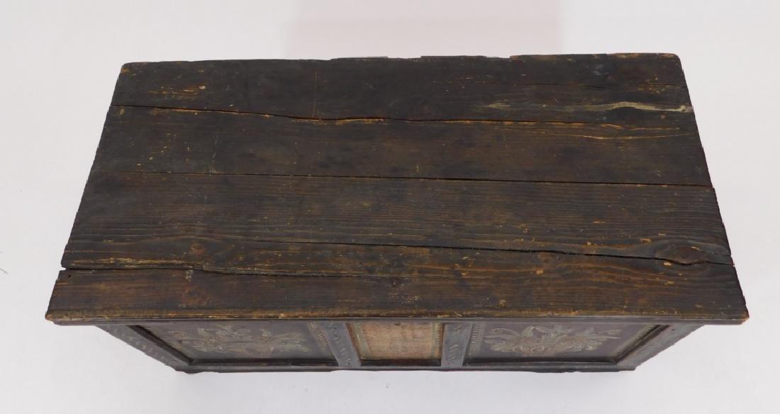 18C Scandinavian Painted Wood Blanket Chest - 3
