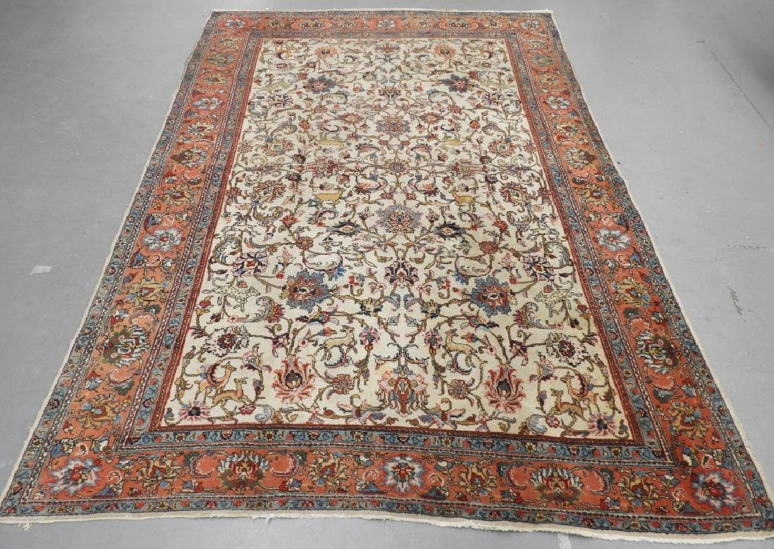 LG Persian Scenic Animal Room Size Carpet Rug