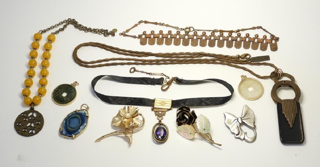 Estate Costume Victorian Mourning Copper Jewelry