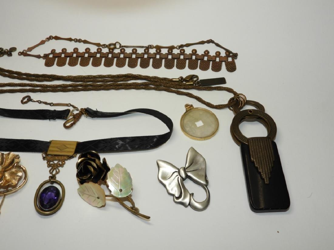 Estate Costume Victorian Mourning Copper Jewelry - 3
