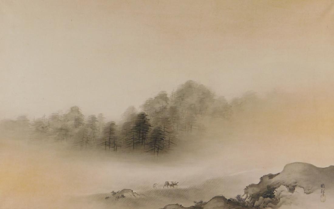 Gaho Hashimoto Ink Watercolor Landscape Painting