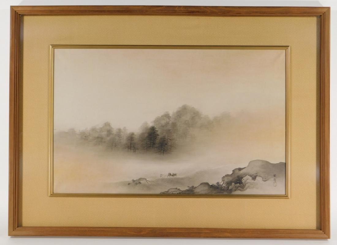 Gaho Hashimoto Ink Watercolor Landscape Painting - 2