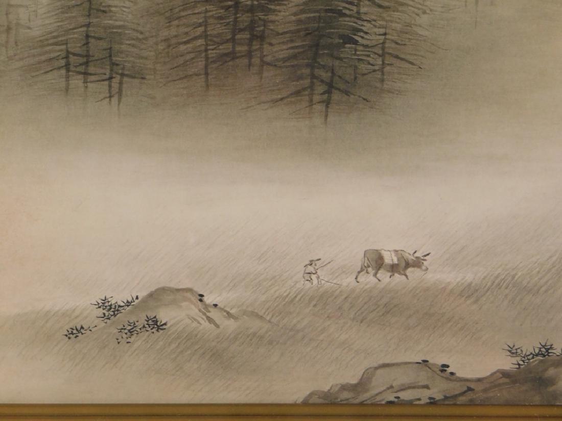Gaho Hashimoto Ink Watercolor Landscape Painting - 3