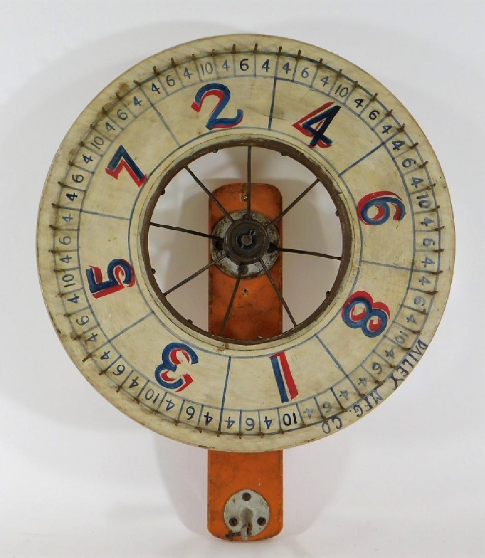 C.1900 Dailey Mfg. Carnival Gambling Game Wheel