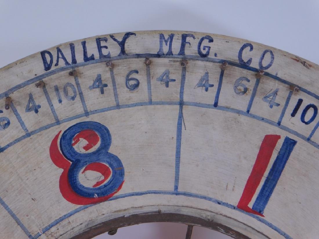 C.1900 Dailey Mfg. Carnival Gambling Game Wheel - 4
