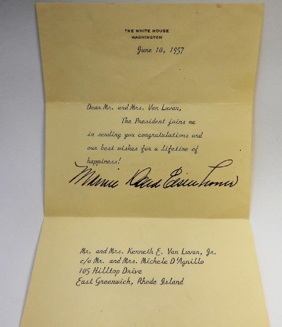Mamie Eisenhower First Lady Presidential Letter