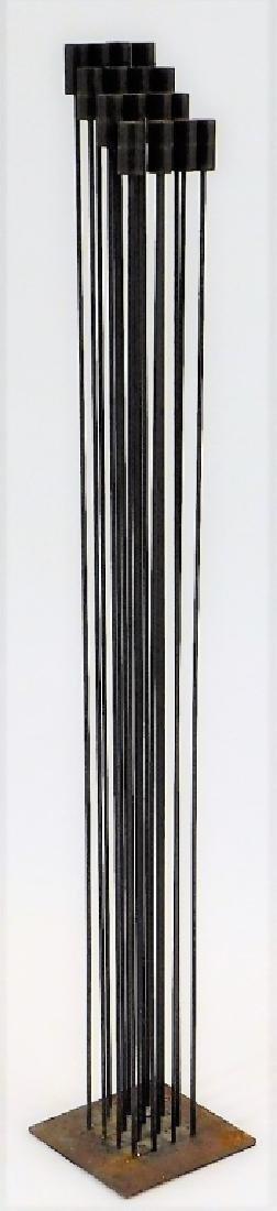 MCM Modernist Bertoia Type Kinetic Iron Sculpture