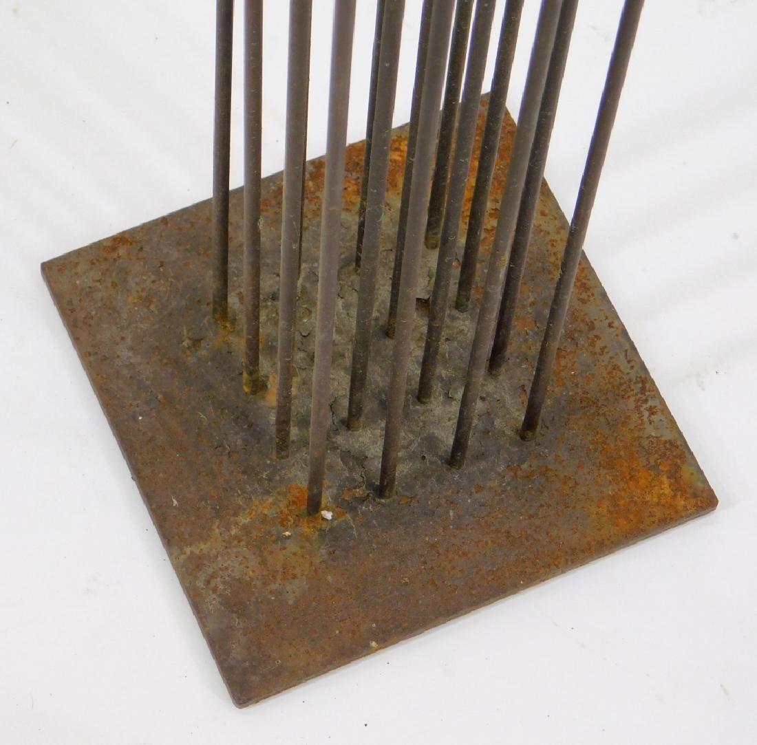 MCM Modernist Bertoia Type Kinetic Iron Sculpture - 3