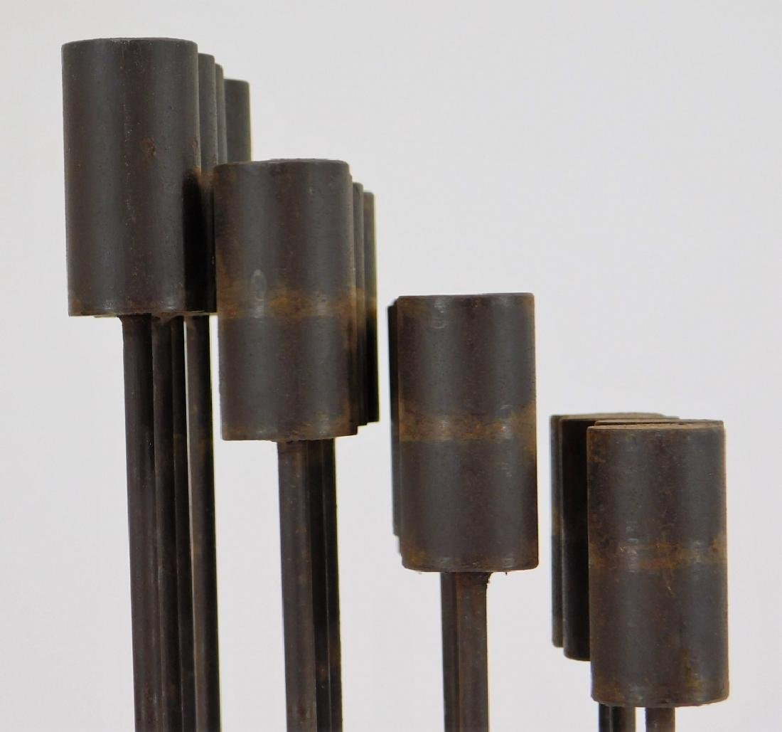 MCM Modernist Bertoia Type Kinetic Iron Sculpture - 4