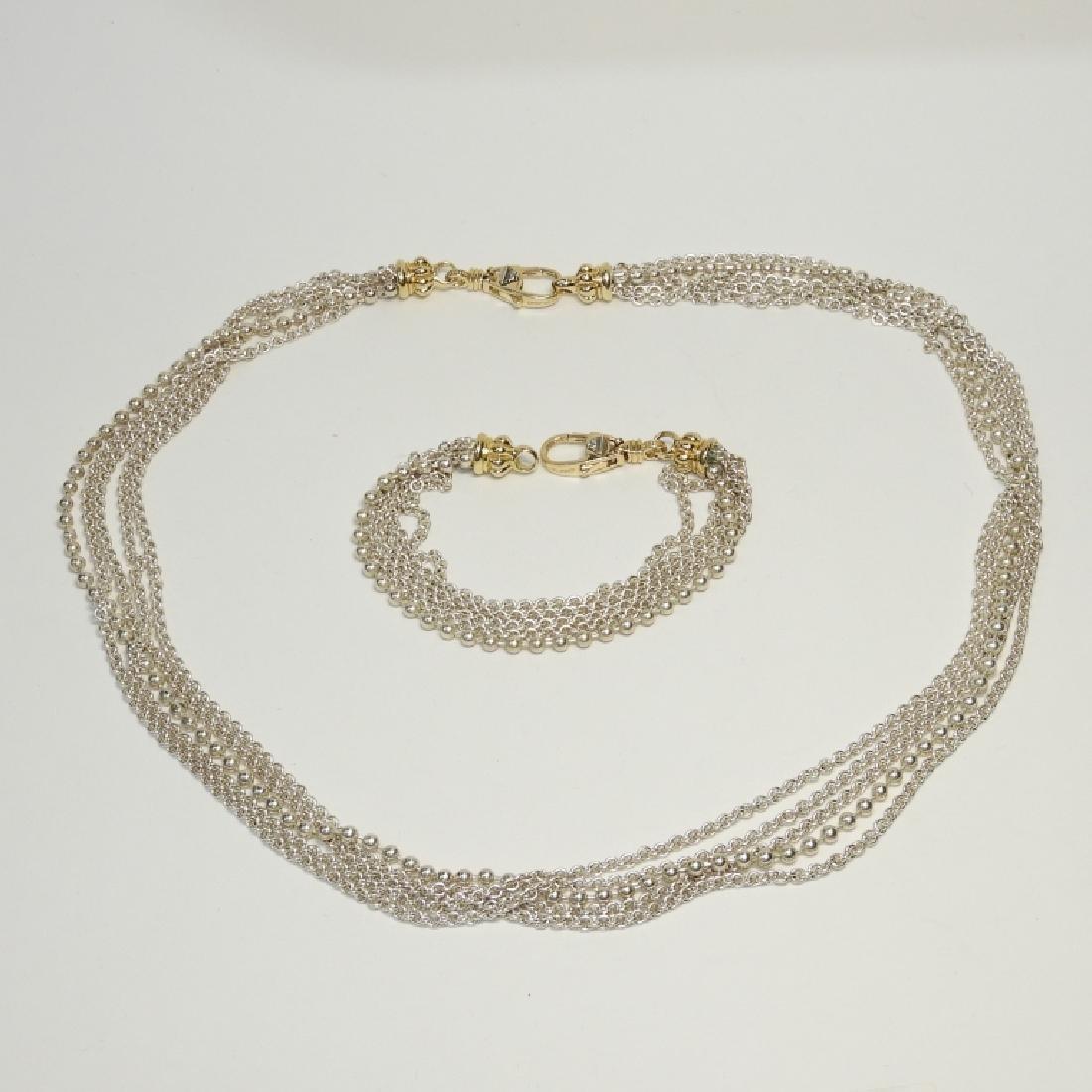 Lagos Caviar S.S. 18K Gold Necklace & Bracelet