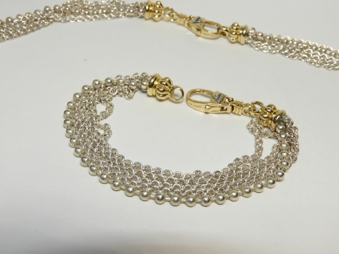 Lagos Caviar S.S. 18K Gold Necklace & Bracelet - 2