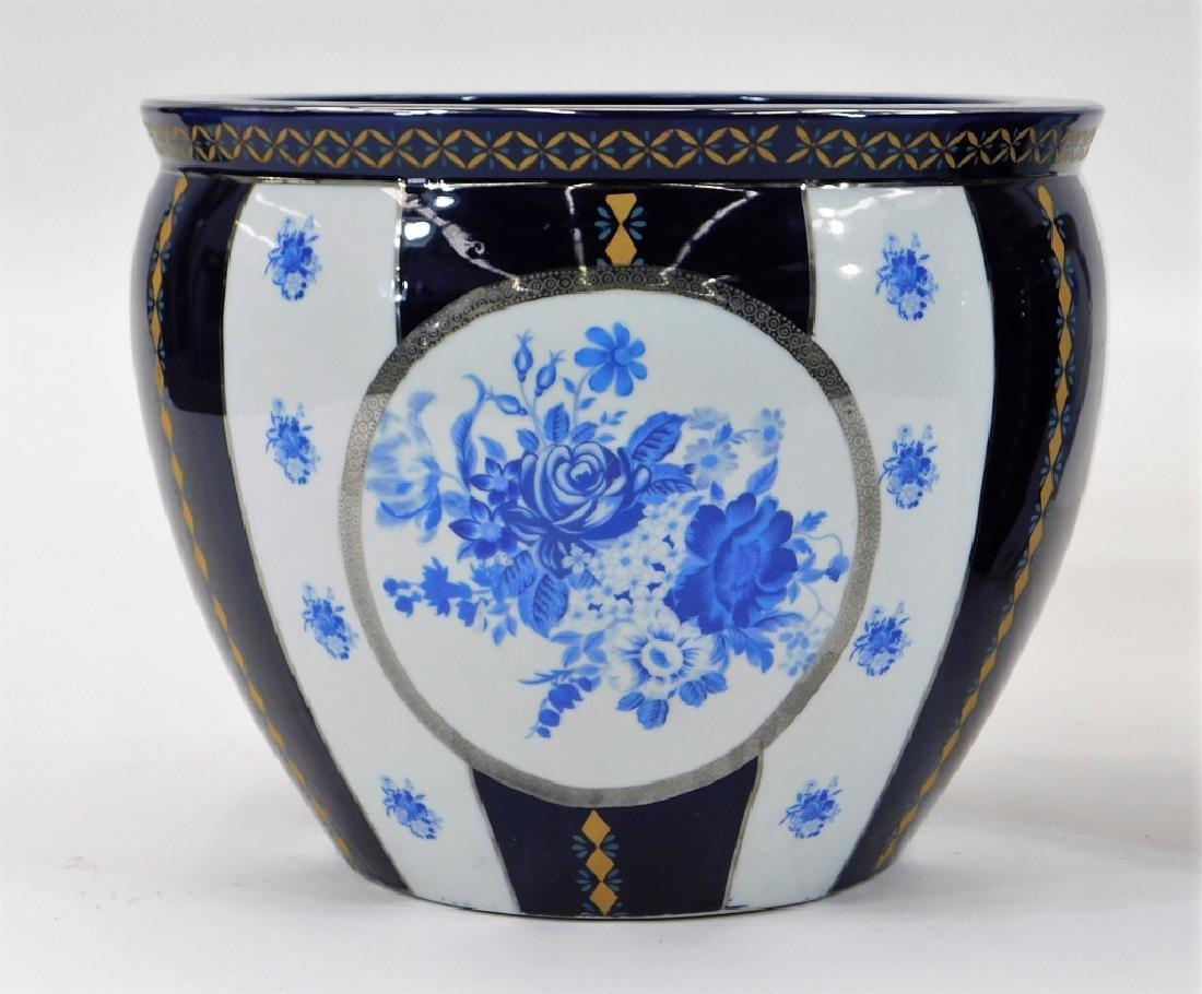 PR 19C European Blue & White Porcelain Jardenieres - 3