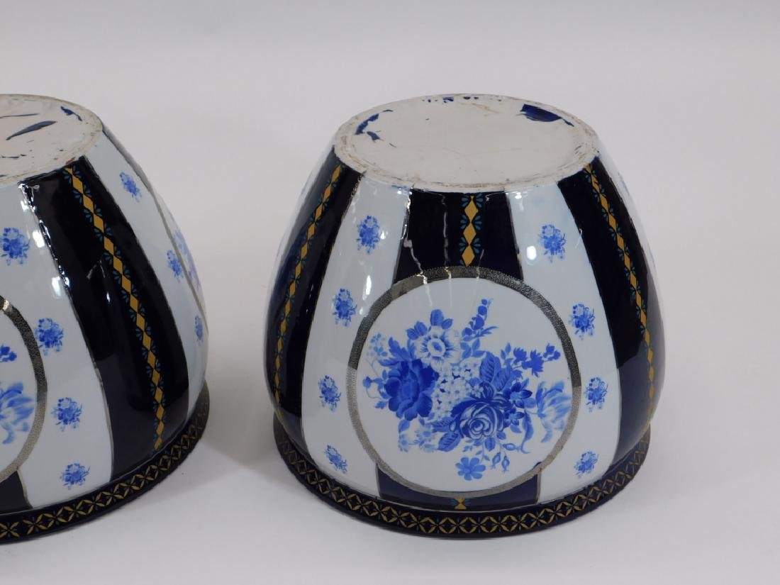 PR 19C European Blue & White Porcelain Jardenieres - 5