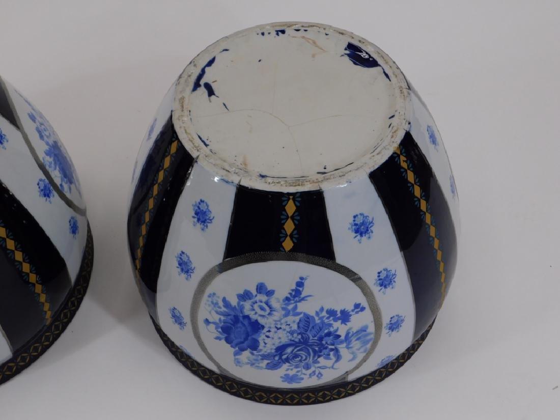 PR 19C European Blue & White Porcelain Jardenieres - 6