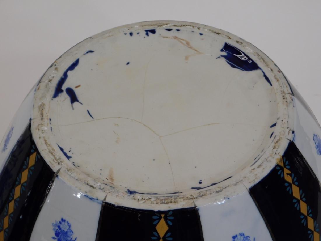 PR 19C European Blue & White Porcelain Jardenieres - 7