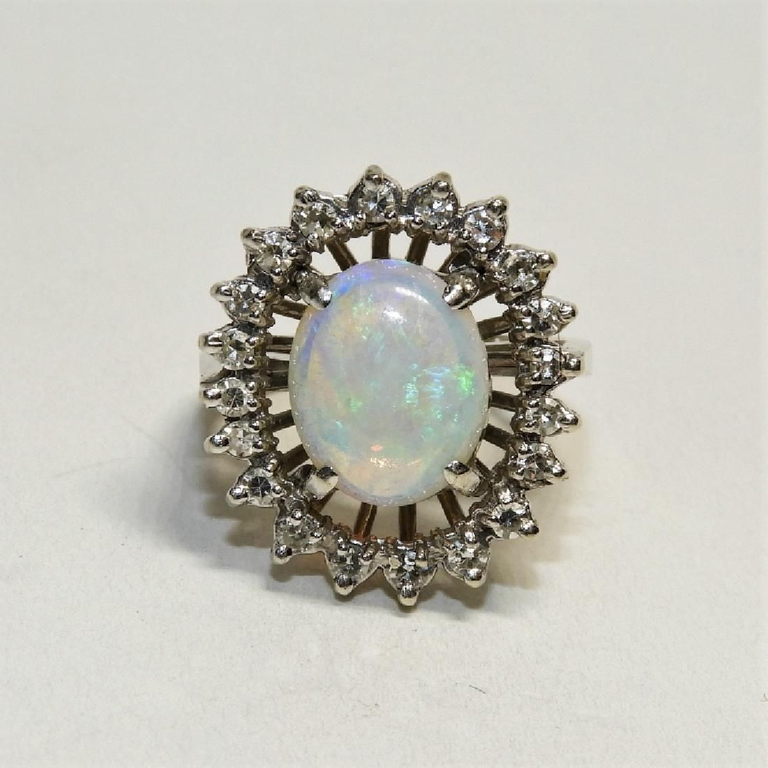 FINE Opal & Diamond Lady's Cocktail Ring