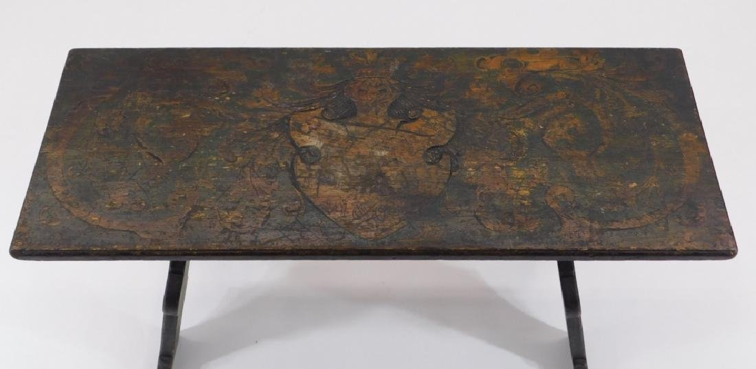 Fred Stuart Green Arts & Crafts Pyrography Bench - 2