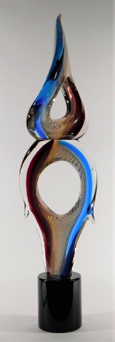 Adriano Valentina Murano Art Glass Flame Sculpture