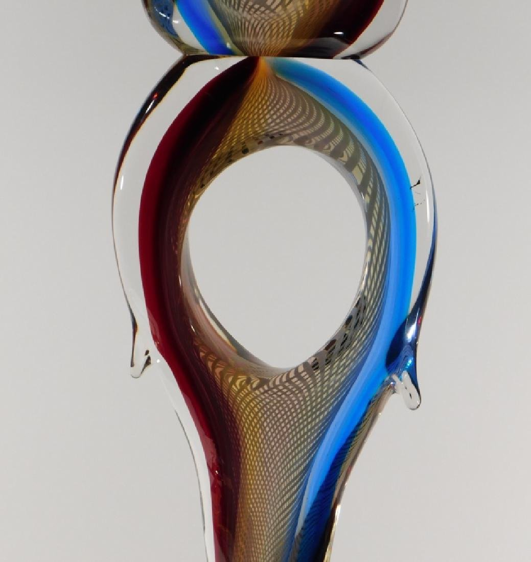 Adriano Valentina Murano Art Glass Flame Sculpture - 3