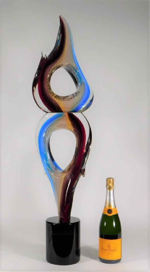 Adriano Valentina Murano Art Glass Flame Sculpture - 9