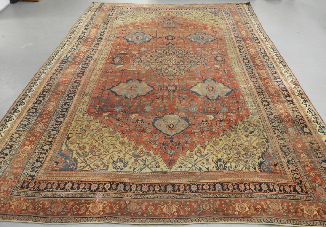 C.1900 Persian Middle Eastern Bidjar Carpet Rug