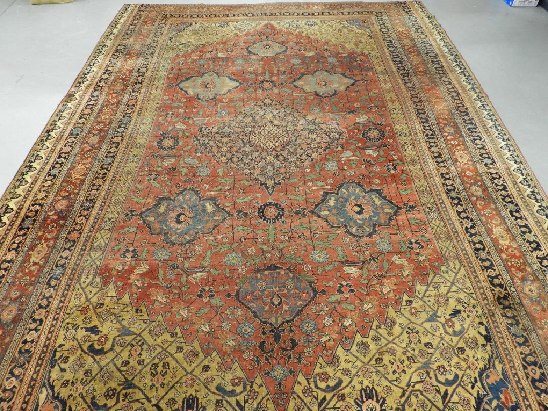 C.1900 Persian Middle Eastern Bidjar Carpet Rug - 2