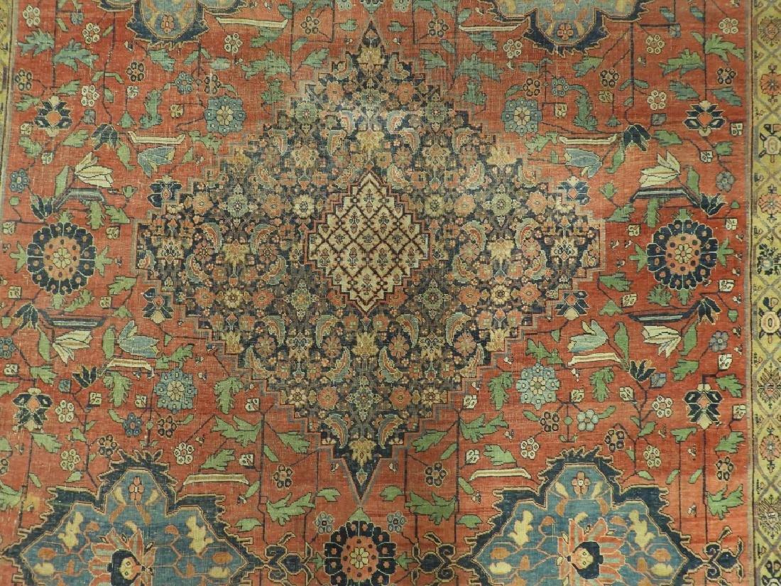 C.1900 Persian Middle Eastern Bidjar Carpet Rug - 3