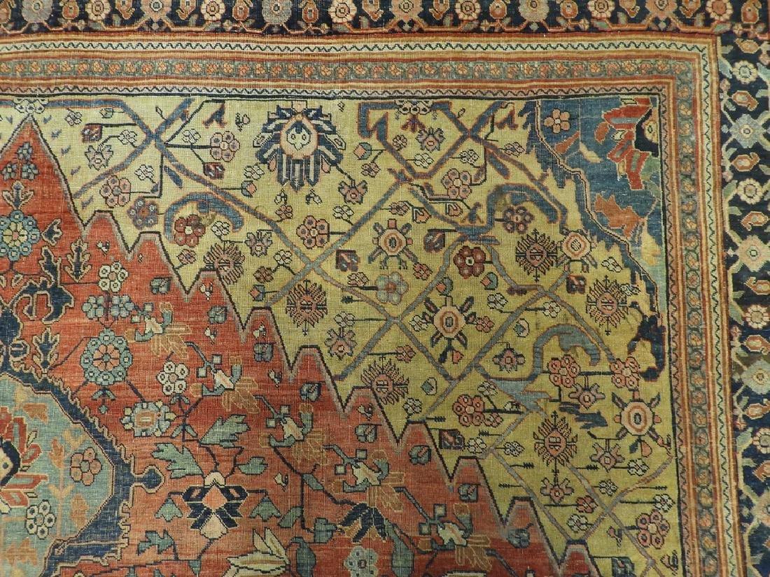 C.1900 Persian Middle Eastern Bidjar Carpet Rug - 5